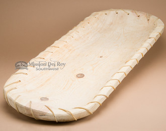 Unfinished Long Tarahumara Laced Board Bowl.