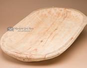 Hand carved wooden Tarahumara Indian dough bowl platter.