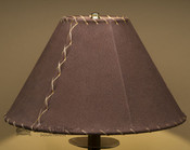 "Western Leather Lamp Shade - 14"" Brown Pig Skin"