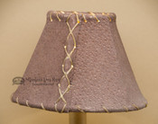 "Pig Skin Leather Chandelier Shade - 6"" Brown"