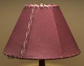 "Western Leather Lamp Shade - 12"" Burgundy Pig Skin"
