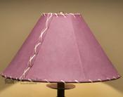 "Western Leather Lamp Shade - 16"" Burgundy Pig Skin"
