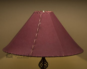 "Western Leather Lamp Shade - 22"" Burgundy Pig Skin"