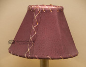 "Western Leather Chandelier Lamp Shade - 6"" Burgundy Pig Skin"