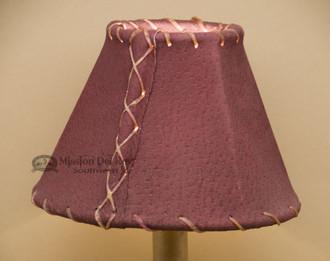 "Western Leather Chandelier Lamp Shade - 6"" Burgundy Pig Skin"