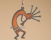 Rustic Metal Art Fan Pull - Kokopelli