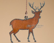Cabin Decor Metal Chainpull - Deer