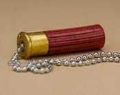 Resin Painted Pull Chain - Shotgun Shell