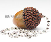 Rustic Painted Resin Pull Chain - Acorn
