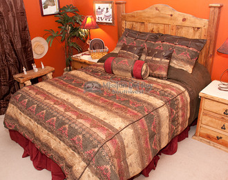 7 pcsouthwest comforter set del sierra super king