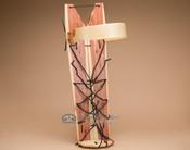 Cedar cradle board made by the Navajo Indians