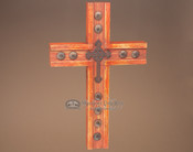 """Western Hand Carved Wooden Cross 17"""" (c31)"""