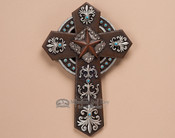 "Rustic Western Star Wall Cross -12"" (c35)"