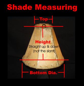 "Custom Made Rawhide Southwest Lamp Shade - 25"" bottom dia."