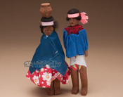 Tarahumara Carved Wooden Dolls - Set of 2