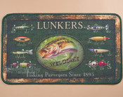 Fishing lure designed doormat.