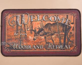 Deer welcome door mat.