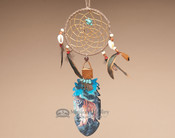 Kiowa Cedar Feather and Dreamcatcher Wall Art