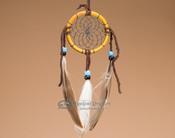 "Native American Bone Dreamcatcher - 2.5"" - Black Webbing"