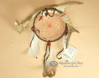 Antler Dreamcatcher Wall Art - Red