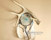 "American Indian Antler Dream Catcher 4"" -Turquoise"