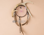 Antler Dreamcatcher Wall Art - Purple