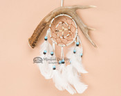 Native American Deer Antler Double Dream Catcher 4""