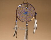 "6"" Native American Dreamcatcher - Blue"