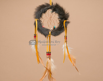 Rabbit Fur Dreamcatcher - 4""