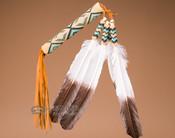 Native American Beaded Peyote Fan -Navajo (f15)