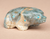Hand Carved Indian Stone Zuni Fetish -Mole (f46)