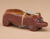 Hand Carved Stone Zuni Indian Fetish -Bear (f64)
