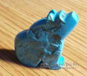 Hand Carved Stone Zuni Fetish Bear -Turquoise