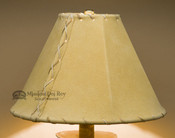 Western Leather Lamp Shade Gold Pig Skin