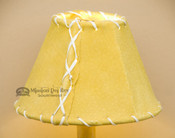 Gold Leather Chandelier Shade - 6""