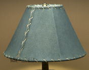 "Western Leather Lamp Shade - 12"" Green Pig Skin"
