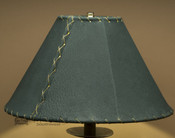 "Western Leather Lamp Shade - 14"" Green Pig Skin"