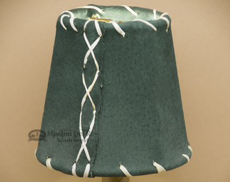 "4"" Green Leather Chandelier Shade"