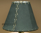 "Western Leather Lamp Shade - 8"" Green Pig Skin"