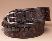 "44-45 Cal. Tooled Western Gun Belt 36"" (gb16)"