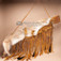 Decorative Antiqued Native American Coyote Pelt Gun Case