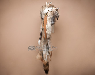 Authentic Native American Coyote Pelt Headdress