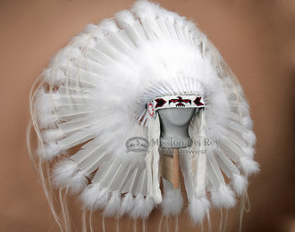 Wedding White Native American Ceremonial Headdress