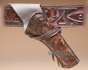 "Western Crossdraw Tooled Leather Holster 8"" -Right (H6)"