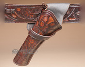 "Tooled Leather Cross Draw Holster 10"" -Left Handed (h7)"