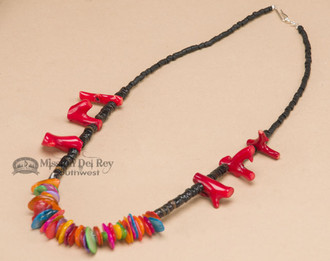 """Native American Indian Beaded Necklace 19"""""""