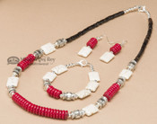 Navajo Beaded Jewelry - Necklace, Earring & Bracelet Set