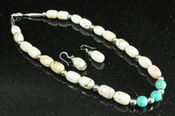 """Apache Indian Jewelry -Necklace & Earring Set 18"""""""