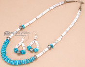 """Native American Jewelry -Necklace & Earring Set 18.5"""""""