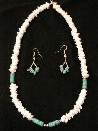 Native American Navajo Jewelry -Necklace & Earring Set 20""